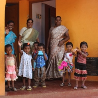 Children and teachers at the RDM nursery